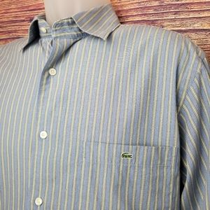 LACOSTE BOTTOM DOWN SHIRT SIZE 40